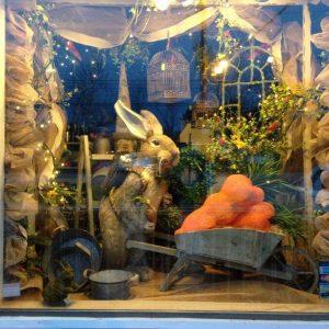 vetrine di pasqua conigli