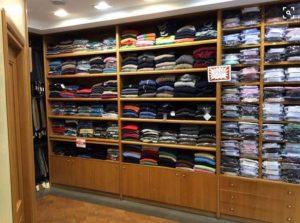 Arredamento legno rovere negozio abbigliamento