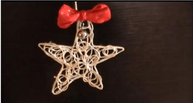 Addobbi natalizi per negozi - stella di spago