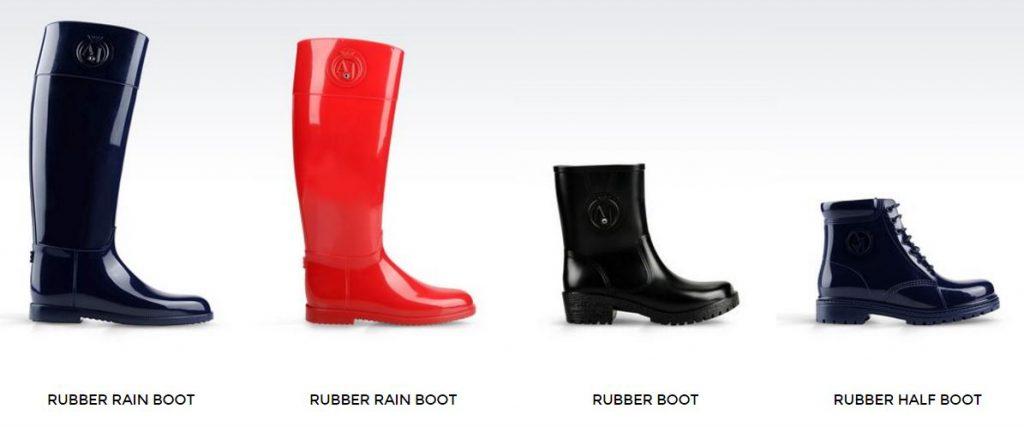 Armani Rain Boots. Foto: armani.com