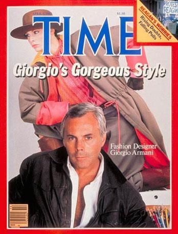 Giorgio Armani sulla copertina del Time (1982)