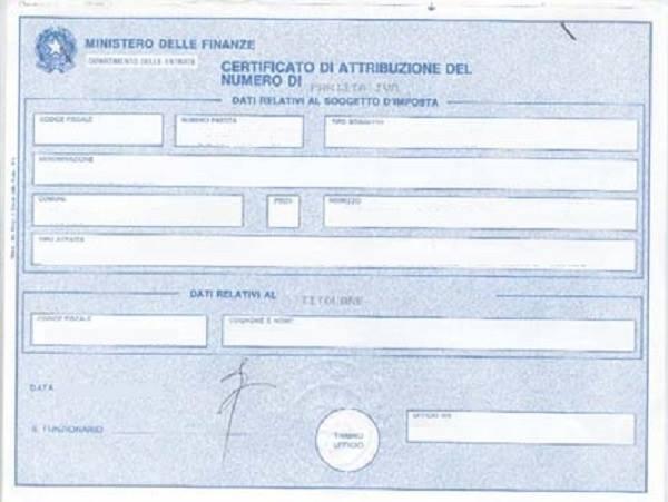 Partita IVA - modello AA9/11 per ditte individuali
