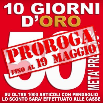 fare promozioni in negozio - piazza italia 10 giorni d'oro